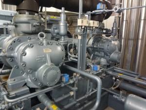 Schraubenkompressor in Kälteanlage